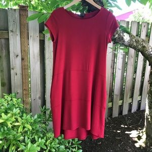 Eileen Fisher Red High Low Dress